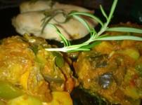Ratatouille mit Hähnchenbrust aus dem Bratenschlauch