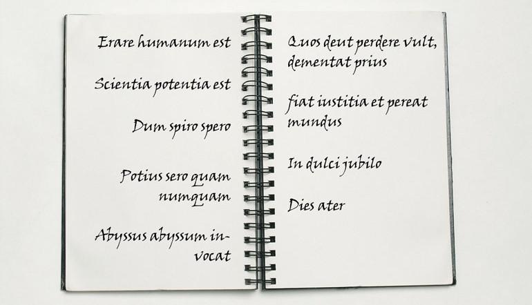 Erklärung der lateinische Zitate aus