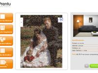 Mosaik-Fotoleinwand von Prentu zum Muttertag