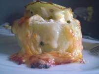 Gefüllter Kohlrabi mit Frischkäse und Parmesan