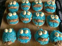 Krümelmonster Muffins für den Kindergeburtstag
