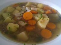 Kartoffelsuppe mit Linsen
