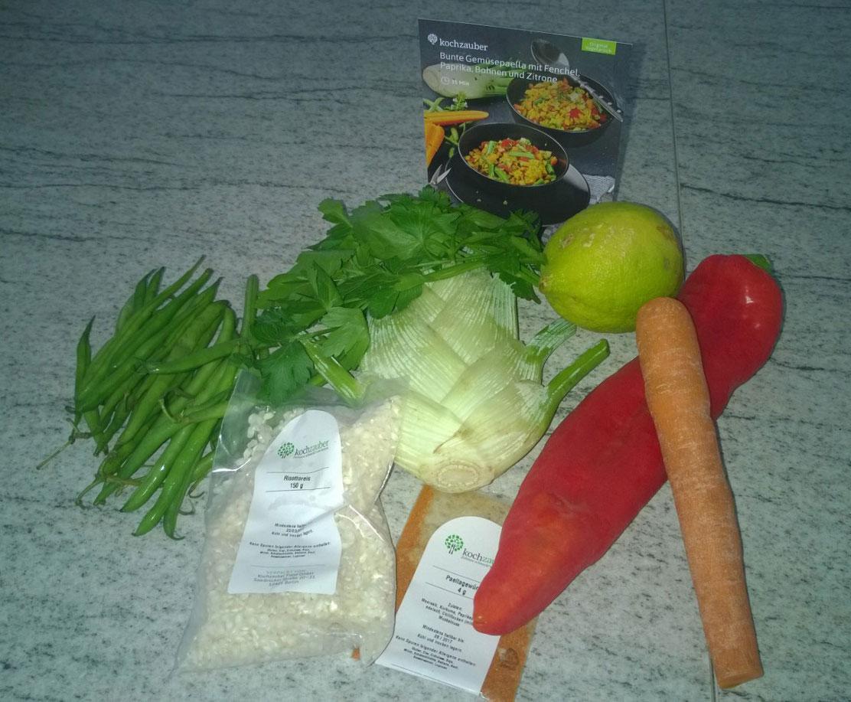 Zutaten-Paella