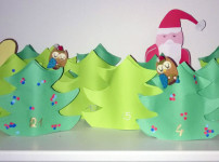 Wir basteln einen Märchenwald Adventskalender