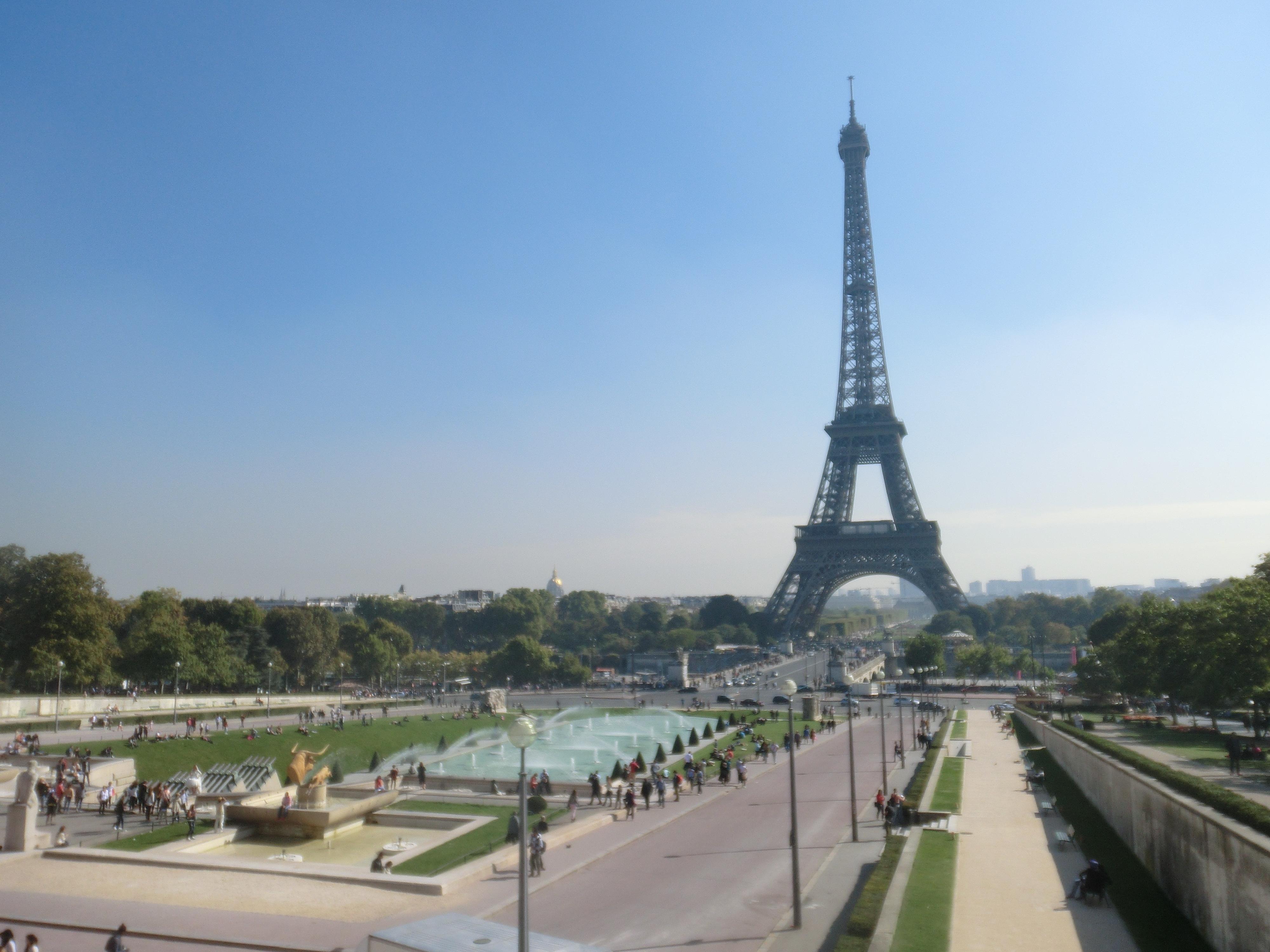 Eiffelturm vom Palais de Chaillon aus