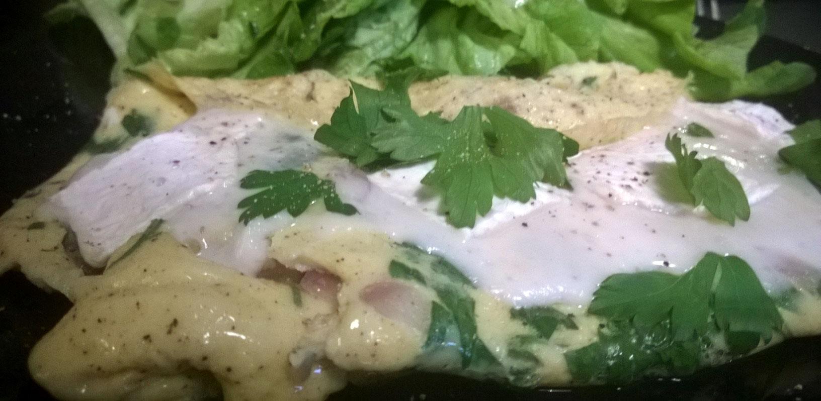 Omelette-mit-Ziegenkäse