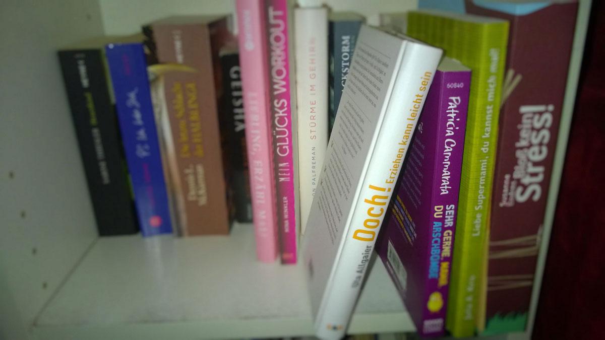 Bücherregal-Erziehungsratgeber