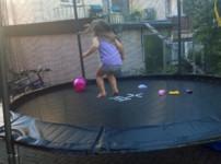 Unser neues Garten-Trampolin von Izzy Sport {Sponsored}