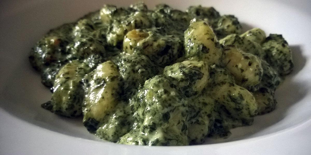 Gnocchi-in-Spinatsauce
