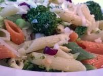 Warmer Nudelsalat mit Brokkoli und Mandel {Kochbox}