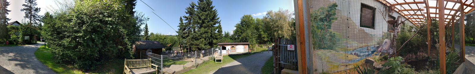Ein Rundumblick aus dem Affen- und Vogelpark Eckenhagen