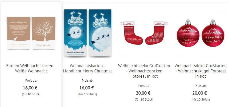 Auswhal Karten bei kartenmachen.de