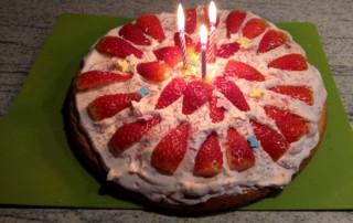 Schnelle Erdbeer Torte