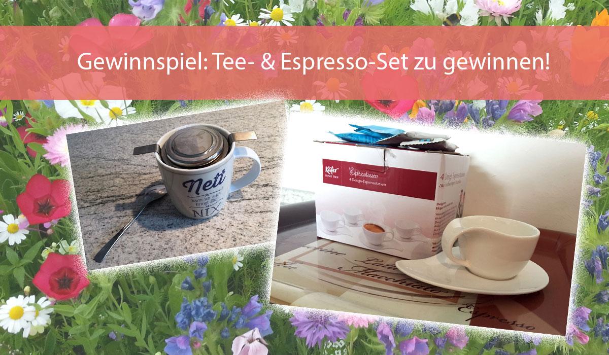 Gewinnspiel Smecket Bio Tee und Espresso Tassen
