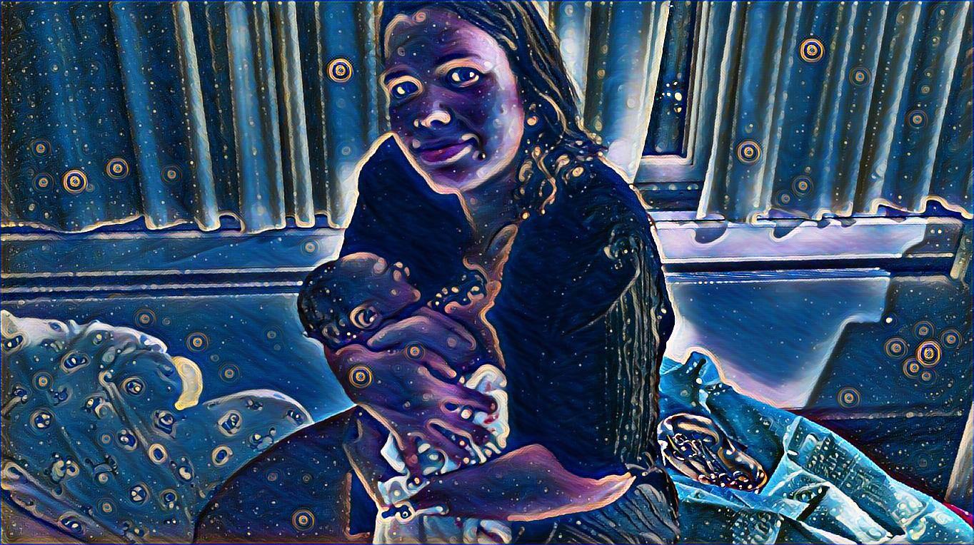 Erstes Bild nach Maries Geburt