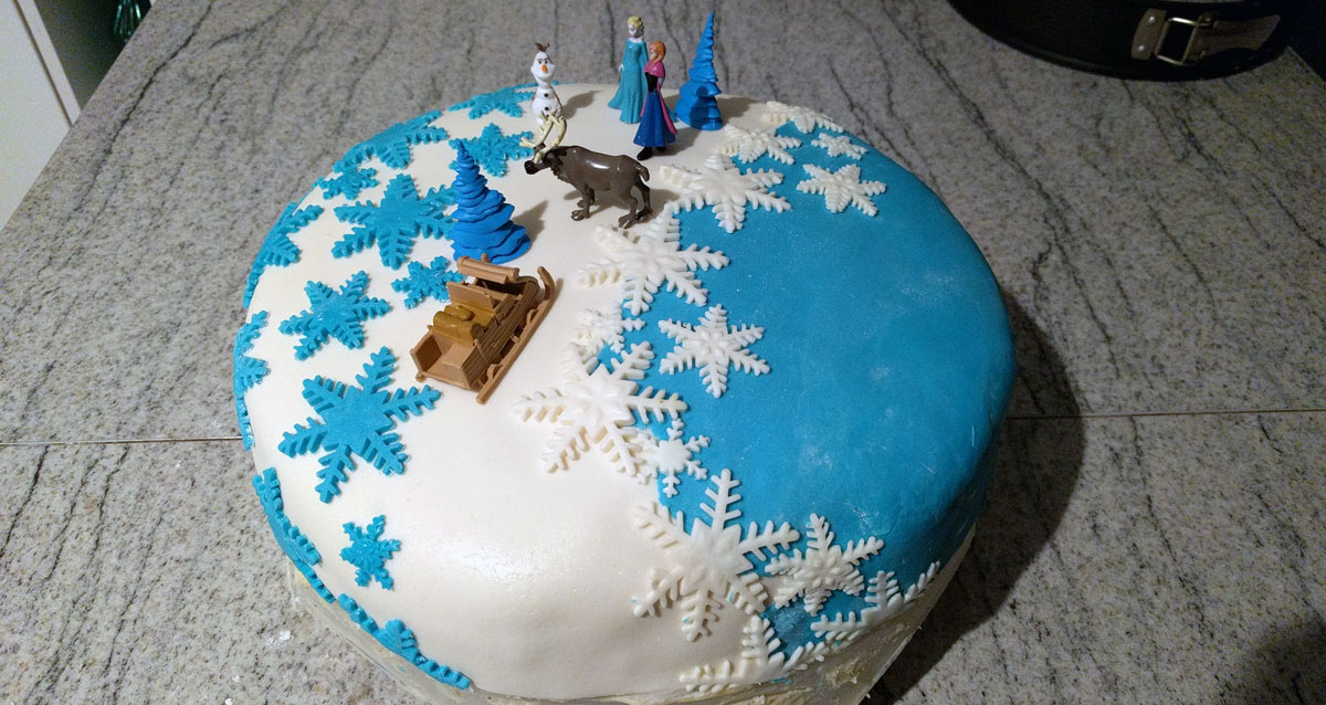 Elsa-Fondant-Kuchen