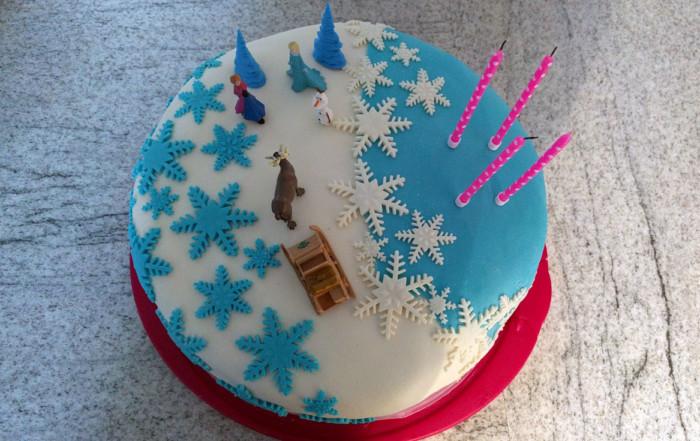 Elsa-Fondant-Torte