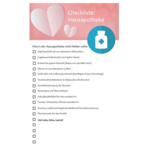 Checkliste für die Hausapotheke